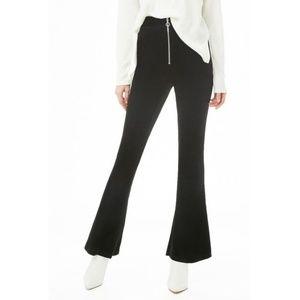 Velvet Flate Pants - BLACK